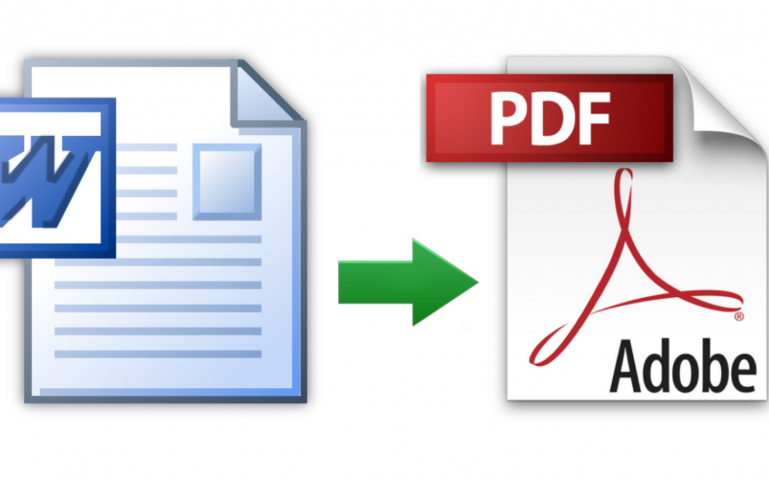 How to save a file to PDF in WORD and EXCEL 2013